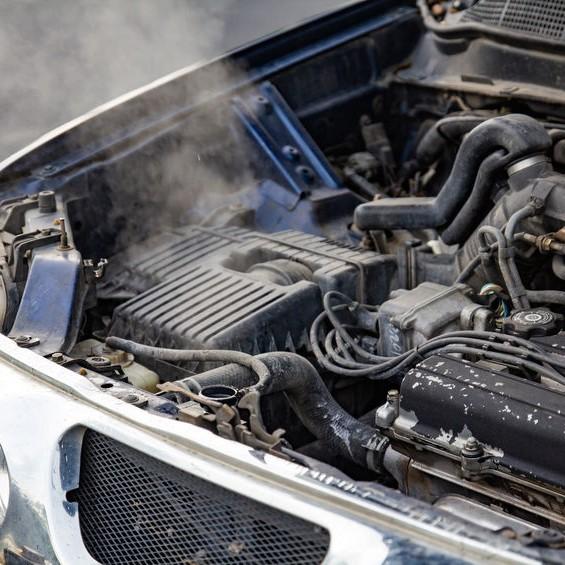 burst engine smoking