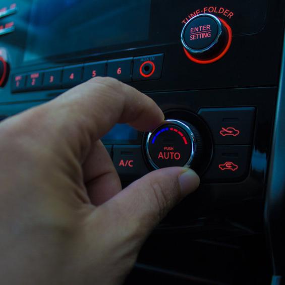 adjusting car ac knob
