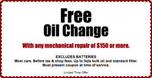 Oil Change Coupons >> Express Auto Repair Customer Coupons Oil Changes